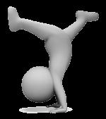 graphic figure doing handstand