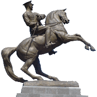 Picture of horse rider statue