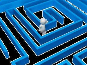 Stick man in maze