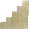 Blocks stacked to emulate growth chart