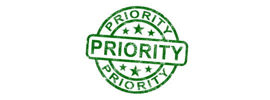 Rubber stamp of Priority