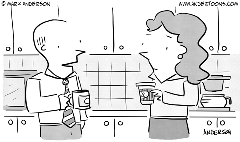 How was your vacation? (cartoon image)